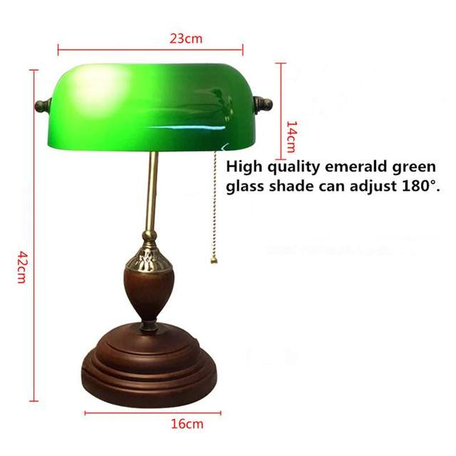 Beau Online Shop Emerald Green Glass Table Light Power Bank Desk Lamp Office Red  Wood Lampe Vintage E27 Reading Lamps Industrial Retro Luminarias |  Aliexpress ...