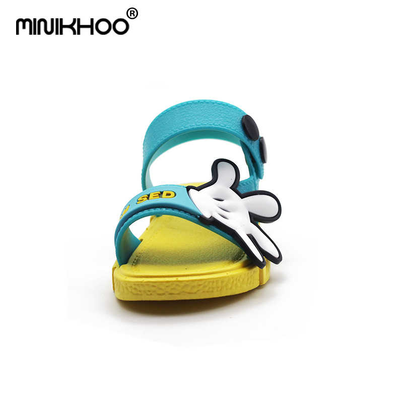 05ba4ad5e3aa ... Mini Melissa Summer Mickey Palm Comfortable Brand Girl Sandals Fashion  Girl Baby Jelly Sandals Breathable Boys ...