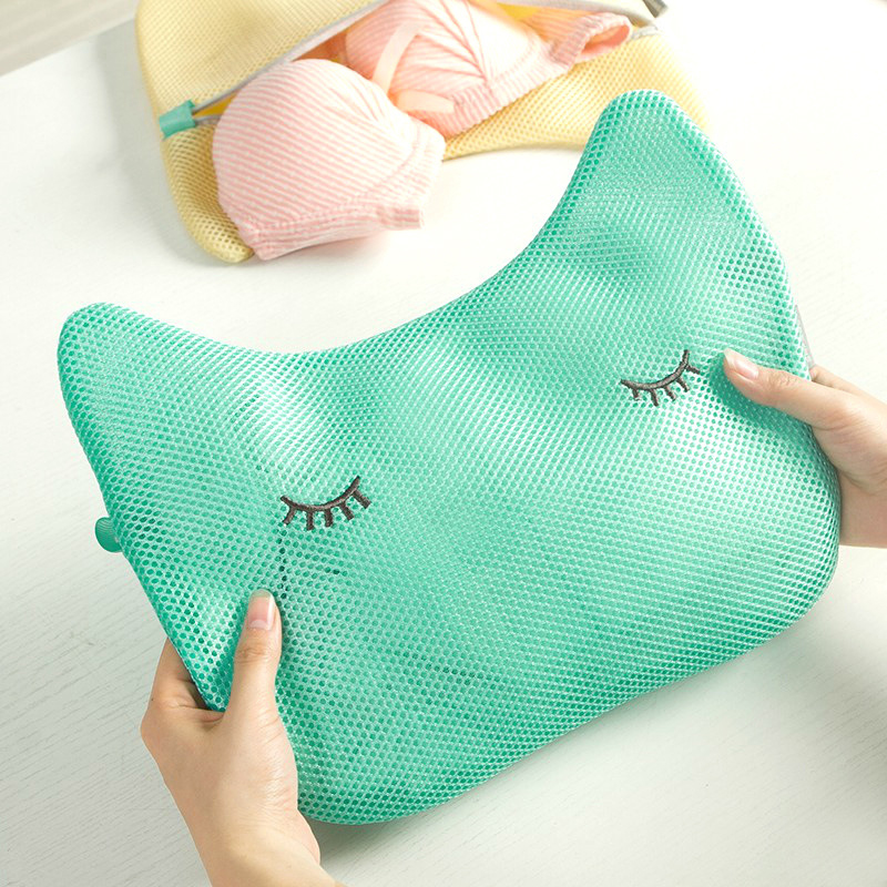 Cute Animal Shape Mesh Laundry Bag Underwear Bra Lingerie Clothes Washing Bags With Zipper Household Cleaning Tools Accessories