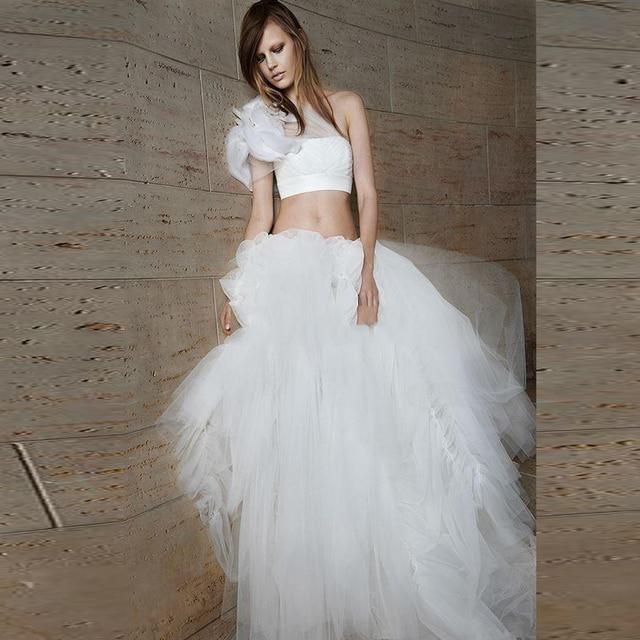 One Shoulder Princess Wedding Dress