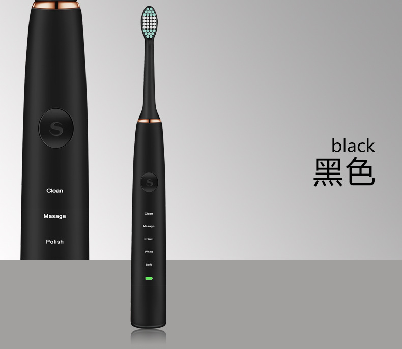 Acoustic Wave Electric Toothbrush Adult Rechargeable Ultrasonic Vibrating Tooth Brush Professional Tooth Cleaner Teeth Machine - 4