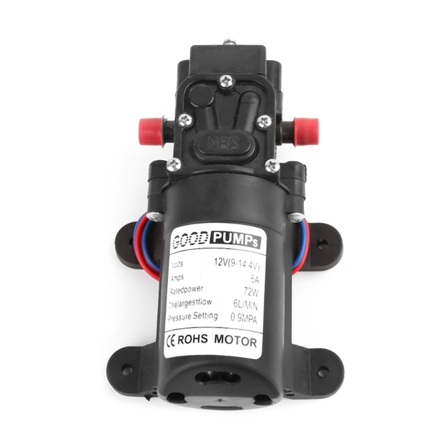 12V 72W High Pressure Micro Membraanwaterpomp Automatische Schakelaar Reflux/ Smart Type