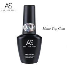 AS 15ML Matt Top Coat 1pcs Nail Art UV Gel Polish 10ml Matte Top Coat LED UV Soak Off Hot Sale UV Gel Polish C014