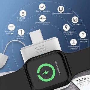 Image 2 - 1000 мАч Беспроводное зарядное устройство мини внешний аккумулятор для i watch 1 2 3 4 5 6 Магнитный Портативный внешний аккумулятор тонкий внешний аккумулятор для Apple Watch