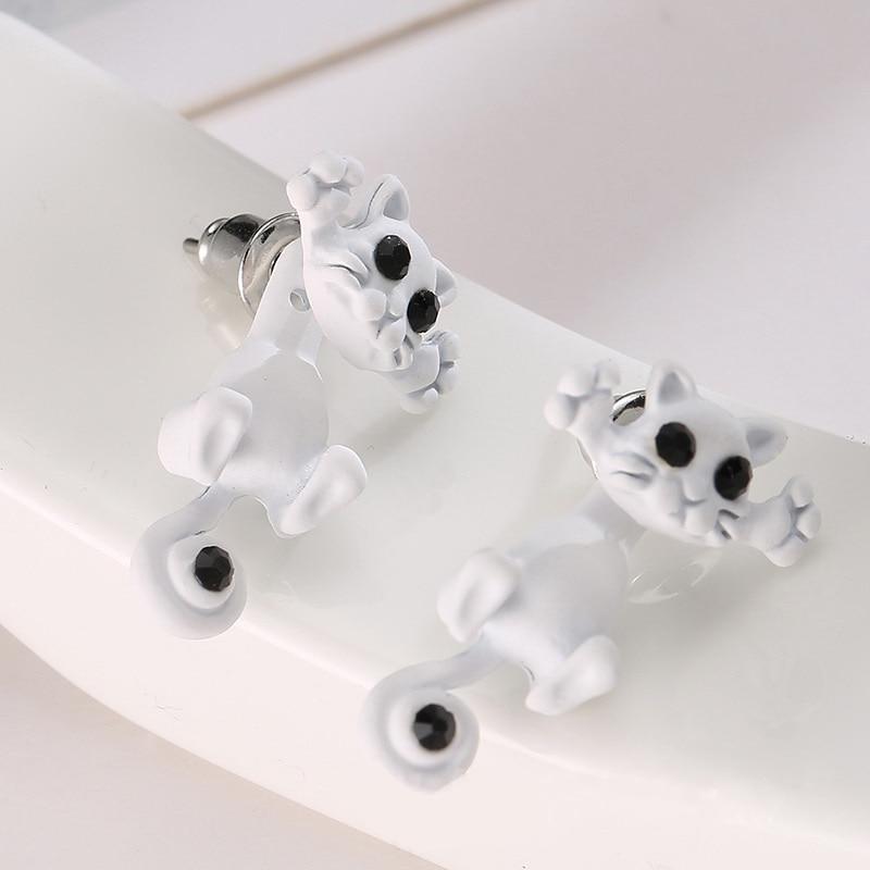 1pcs / Classic Fashion Multi-color Small Kittens Three-dimensional Animal Earrings Girls Cute Earrings Jewelry Making