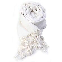 f3ba1ec94 Vintage Women Scarf Ladies Solid Color Black Red White Scarves Warp shawl  female bufanda mujer(