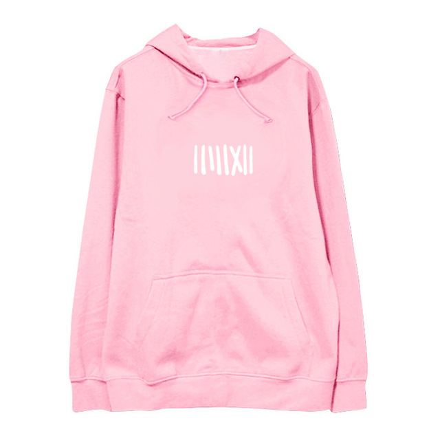 """tally"" Sweater Hoodies sweatshirt Black Pink Blackpink"