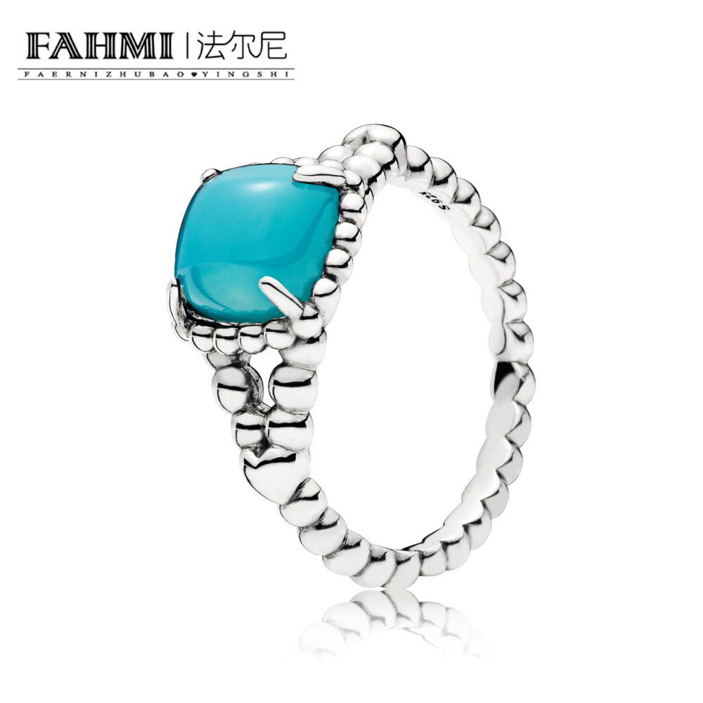 FAHMI 100% 925 Sterling Silver 197188NSC Blue Vibrant Spirit Ring Original Women's Wedding Fashion Jewelry 0