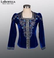 Man Royal Blue YAGP Competiton Professional Ballet Tops Jacket Boys Ballet Stage Costume Outwear BM0004