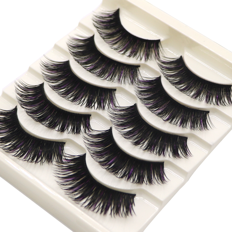 10 Pairs Thick False Eyelashes Messy Eyelash For Girls Cross Long False Eyelashes Stage Makeup Tips Fake Eye Lashes Extensions