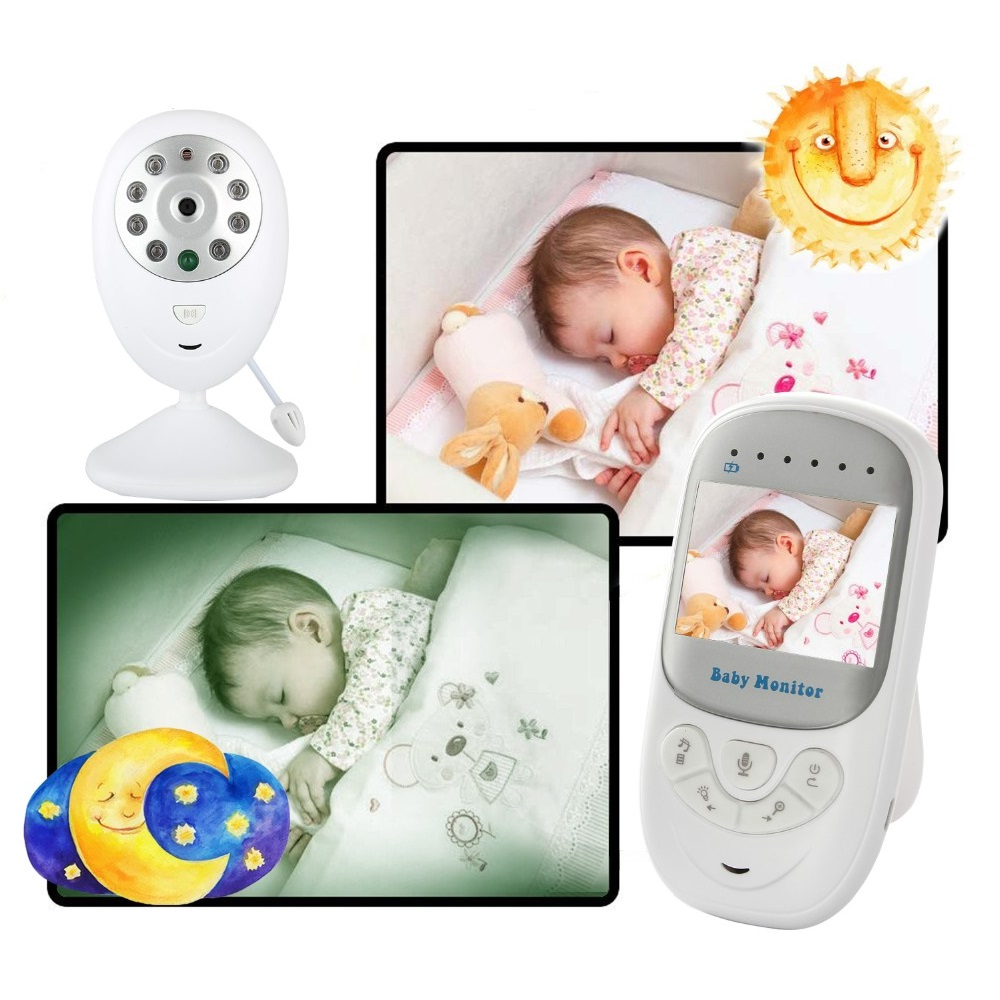Babykam VIDEO NURSE baby monitor with monitor 2.4 inch nanny IR Night Vision Lullabies Temperature Monitor Baby Intercom 2X Zoom
