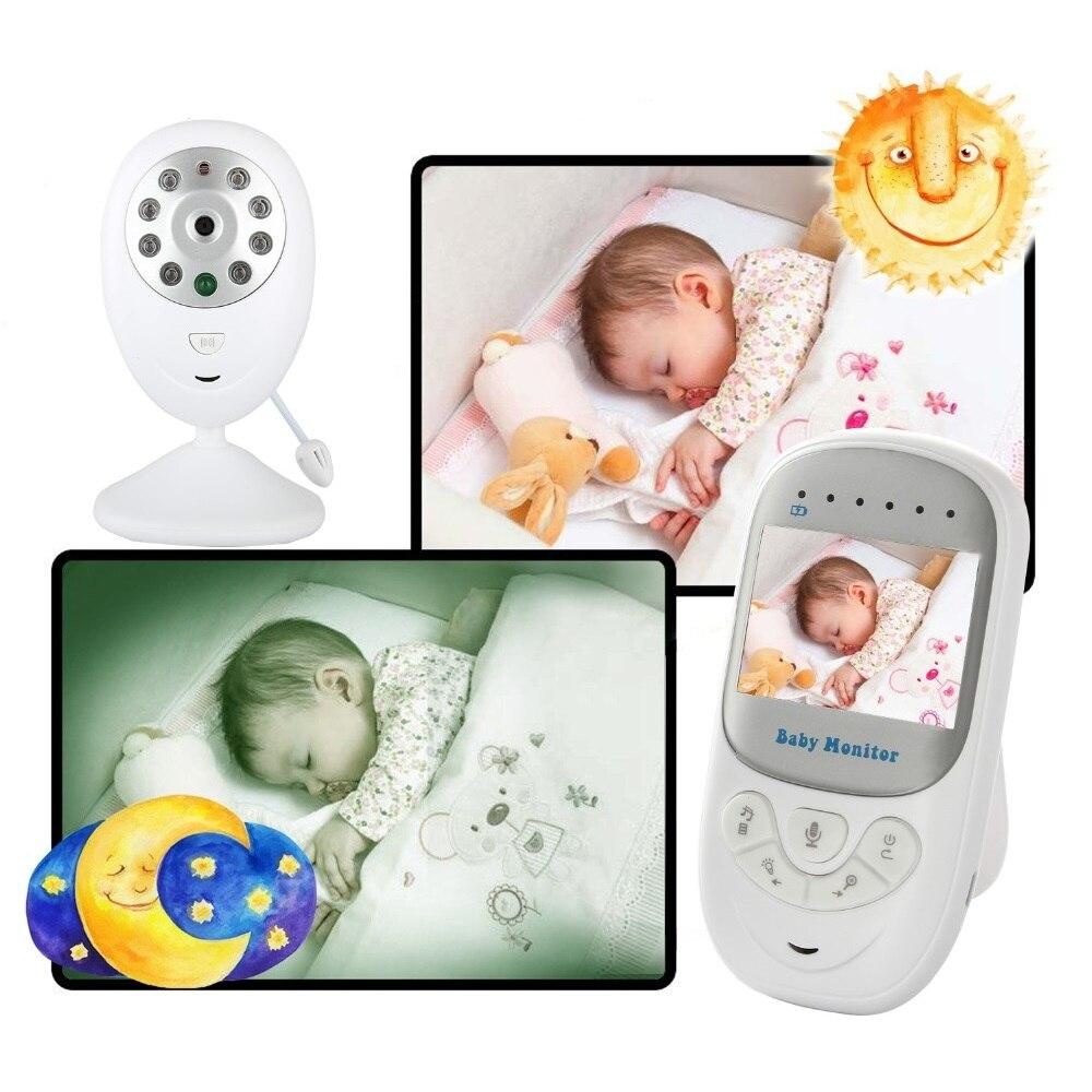 Babykam nanny VIDEO INFERMIERA baby monitor con monitor da 2.4 pollice Visione Notturna di IR Ninne Nanne Temperatura Baby Monitor Citofono 2X Zoom