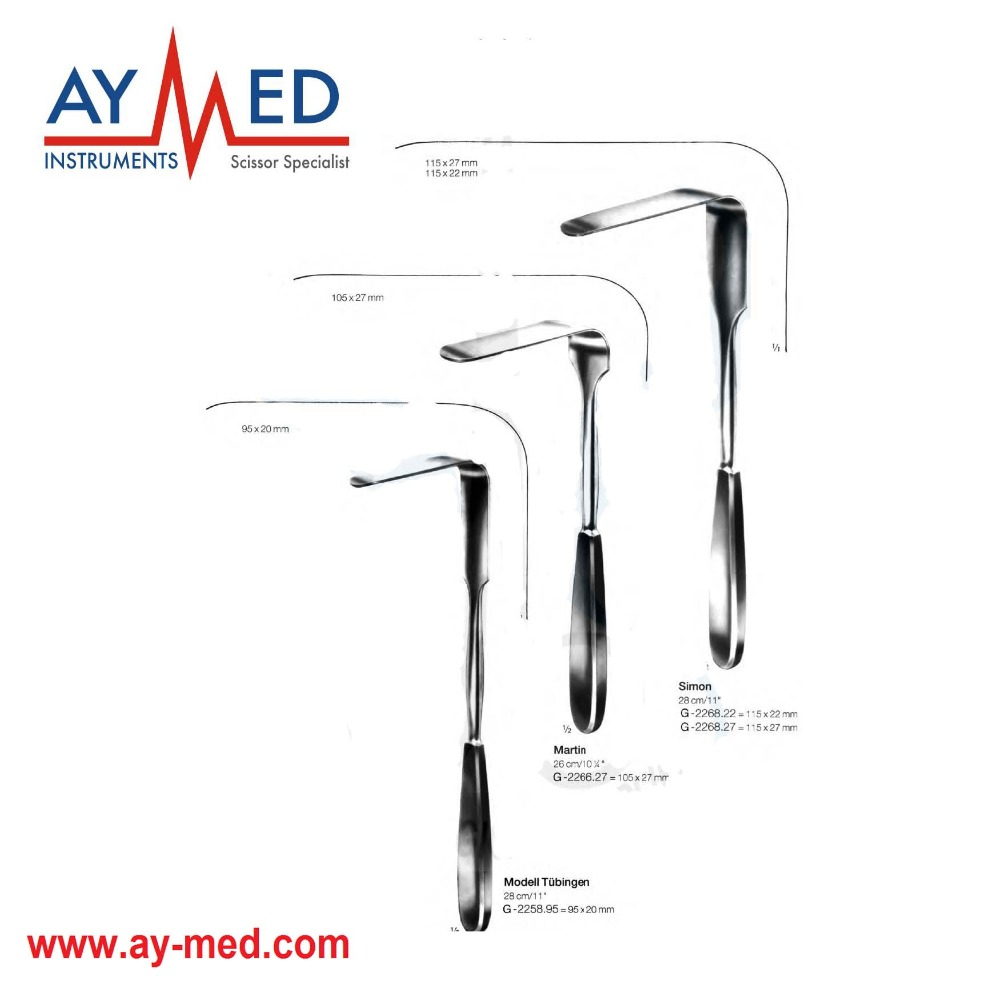 Any 3 Pieces 5 Set Simon & Tubinger And Martin Vaginal Retractors - Surgical Instruments Scissors