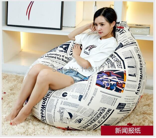 Ywxuege Living Room News Newspapers Sofas Bean Bag Sofa( filler included) Linen Cotton Soft Sofa Bed Suit For Bed
