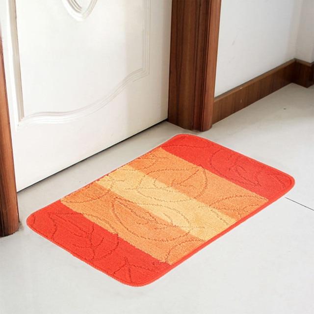 Modern Carpet Orange Colour Floor Carpets Rugs For Bedroom Bathroom Living Room Mats Kitchen Entrance Mat