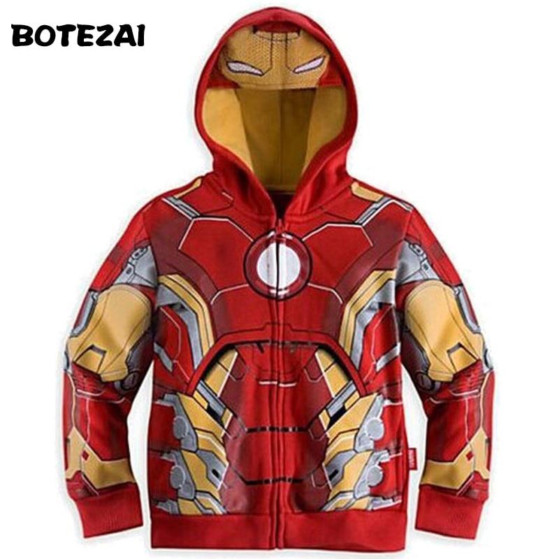 2017 New Avengers, Iron Man Bambini Felpe Del Ragazzo Felpa Spider-man Capretti Del Cappotto Manica Lunga Outwear Ragazze Dei Ragazzi Una Vasta Selezione Di Colori E Disegni