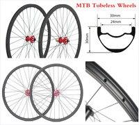 30*30 27.5er Mountain bike bicycle MTB Carbon rims wheels Tubeless mtb 29 inch carbon wheels 28H/28H spokes