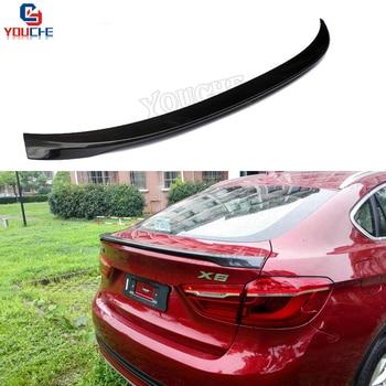 X6 F16 Rear Trunk Spoiler Carbon Fiber Wing For BMW X6 Series 2015 - Present 5-door SUV Gloss Black Trunk Lid