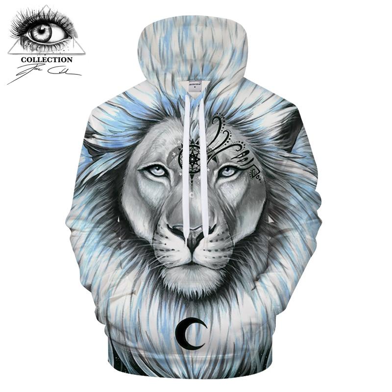 lion galaxy By Pixie coldArts 3D Print Hoodies Men Casual Sweatshirt Tracksuit Pullover Jacket Hooded Streatwear Coat DropShip
