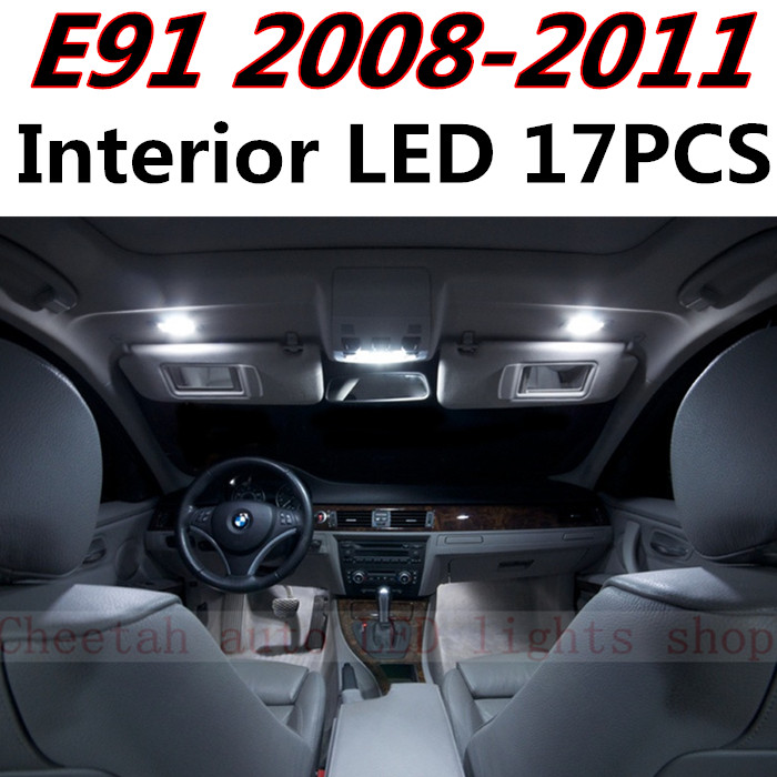 Night Lord 17pcs X free shipping Error Free LED Interior Light Kit Package for BMW E91 3 Series accessories 2008-2011 free shipping new arrival 35pcs pack 2m pcs led aluminum profile for led strips with milky or transparent cover and accessories