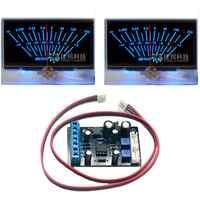 2 piezas un par de P-134 medidor VU cabeza DB Nivel amplificador de potencia w/luz de fondo w/1 pc TA7318P medidor VU Placa de controlador