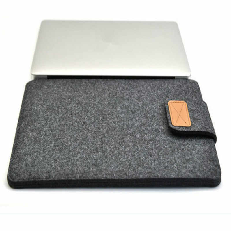 11 12 13 14 15 polegada Feltro de Lã Inner Notebook Laptop Sleeve Case Bag Bolsa de Transporte Para Macbook Air/ pro/Retina