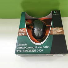 100% original Logitech Optical Gaming mouse G400 jugador marca wired profesional gmaing ratón con el paquete al por menor
