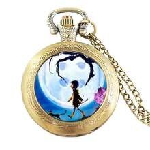 Аниме фильм Коралина ожерелье карманные часы цепи ювелирные