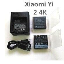Cho Riginal Xiaomi YI 4K AZ16 1 USB Sạc Đôi Cho Yi 4K + Tặng Camera Hành Động Lite Phụ Kiện pin Sạc Dự Phòng 1400MAh