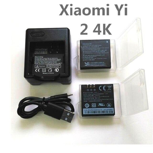 עבור riginal Xiaomi יי 4K סוללה AZ16 1 USB הכפול מטען עבור יי 4K + פעולה מצלמה Lite אבזרים 1400mAh סוללה נטענת