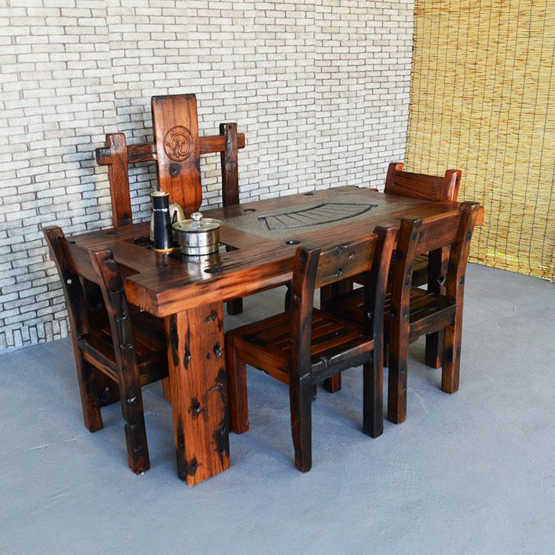Stare Meble Starego Drewna Stolik Herbaty Połączenie Stoły I