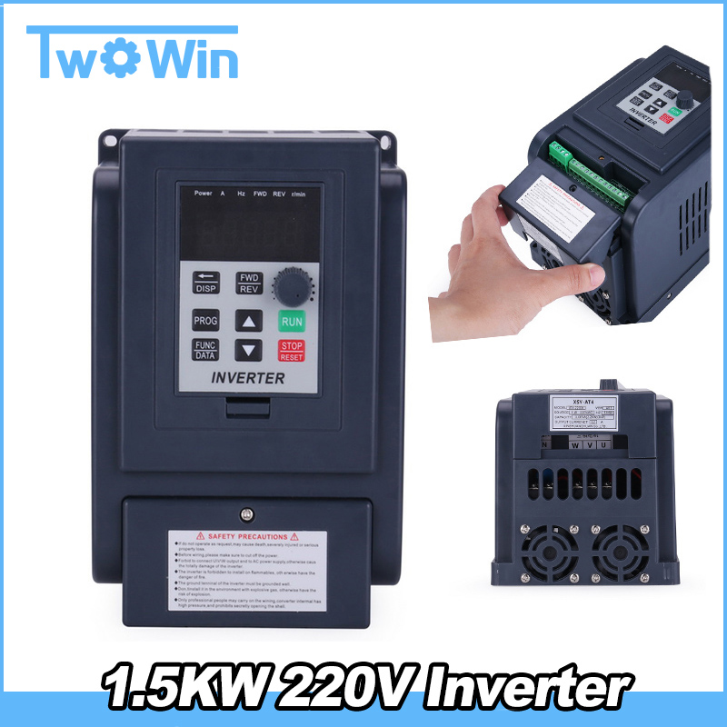 Free Shipping 1 5KW 220V Single Phase input and 380v 3Phase Output Frequency Converter Drive Frequency