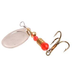 Image 5 - Cá Thu Hút dễ dàng shiner Cá Spoon Lure Sequins Paillette Kim Loại Cứng Bait Đôi Treble Móc Giải Quyết dropshipping