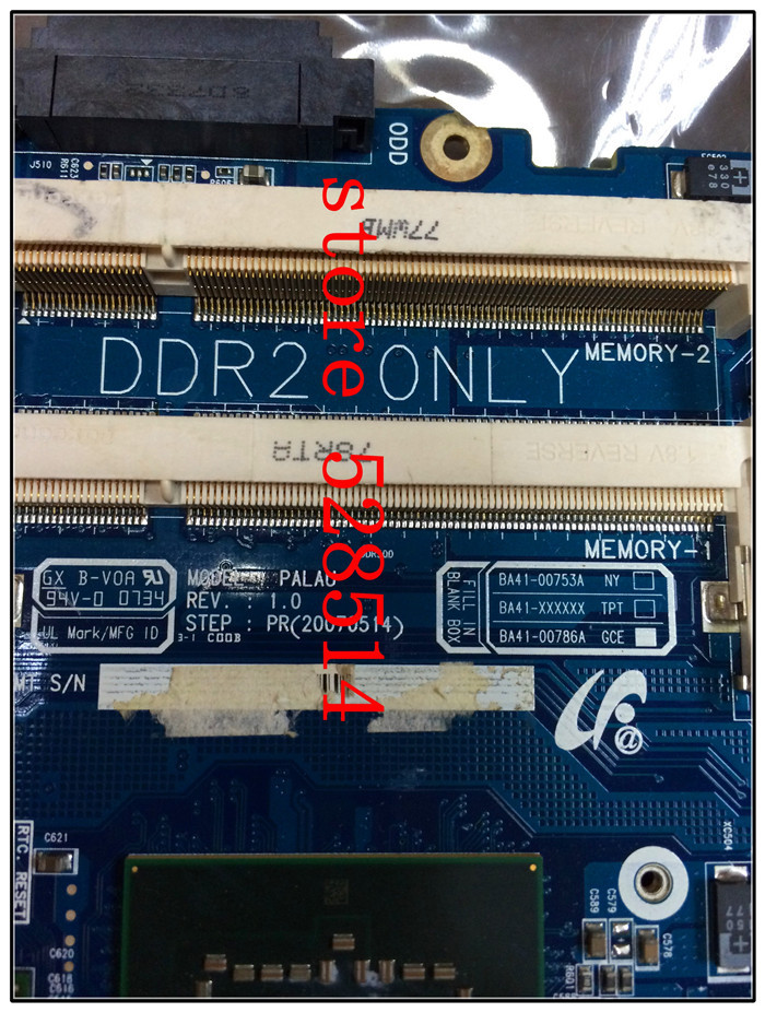 Original BA41 00786A for SAMSUNG NP X22 DDR2 Integrated laptop font b motherboard b font 100