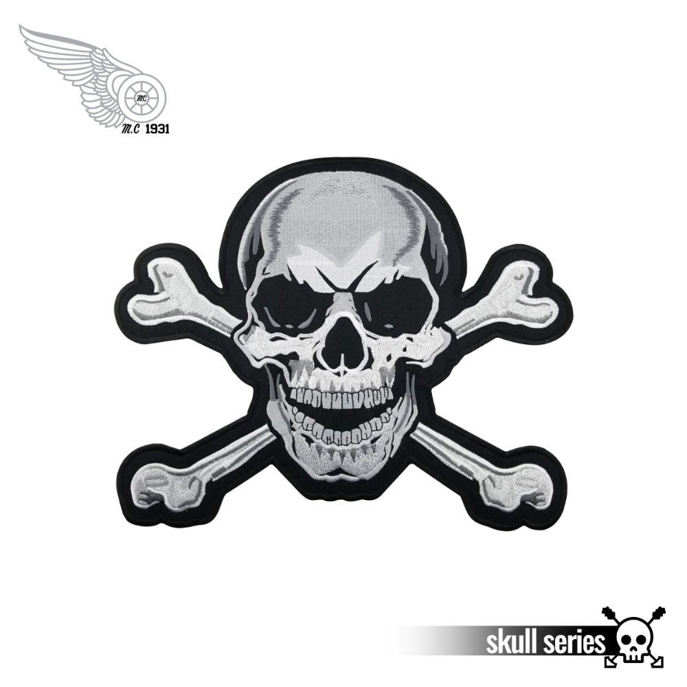 BIKER OUTLAW EMBROIDERED PATCH **FREE POST** SKULL TOTENKOPF SANTA