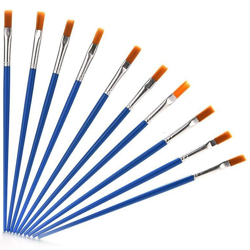 10-Piece Nylon Hair Paint Brush Set Professional Artist Paint Brushes Art Painting Supplies For Watercolor Oil Acrylic Paintin