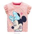 Nuevo 2017 de la Marca de Calidad 100% de Algodón de los Bebés del Verano t camisas de Manga Corta Ropa de Los Niños Ropa de Bebé Niña Camiseta de Los Niños blusa
