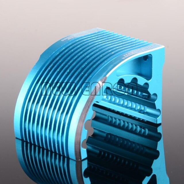 Team Vikings Aluminum RC Car CNC Metal Heat Sink Radiator For 42mm Motor Blue