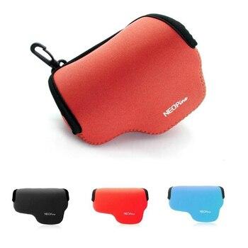 Taşınabilir Neopren kamera çantası kılıf Panasonic LX100 LX100II LX100M2 kamera kılıfı yumuşak kapak koruyucu Carabiner ile