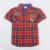 Muchachos de la ropa del bebé del verano 2016 nova kids wear plaid fashipn muchacho de la historieta t-shirt nueva top niños desgaste de la ropa del desgaste