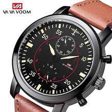 Fashion Watch Men 2019 Men's Sports Waterproof Watch Army Pilot Military Watch Leather Belt Man Quartz Wrist Watch reloj hombre цена в Москве и Питере