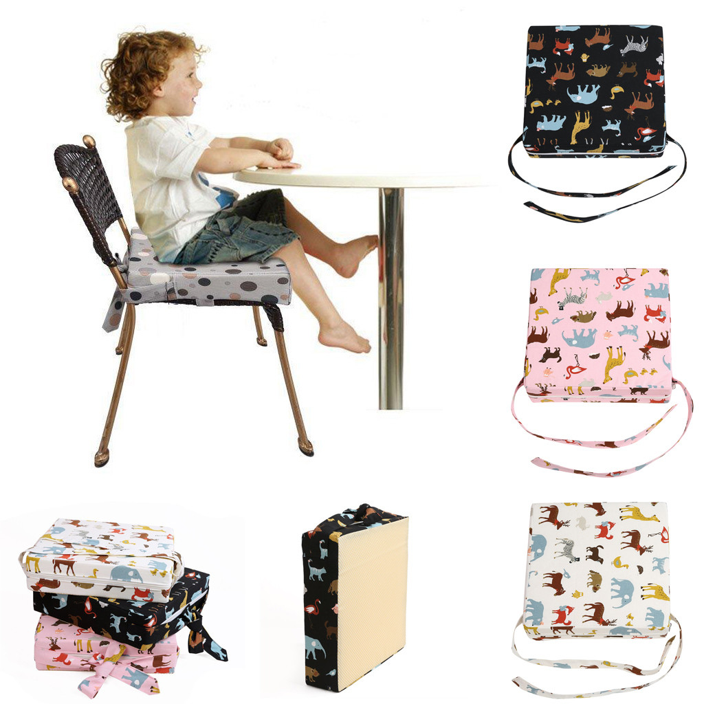 Gacsidy Store Baby Kids Booster square Cotton Seat For Dining Portable Thick Chair Increasing Cushion