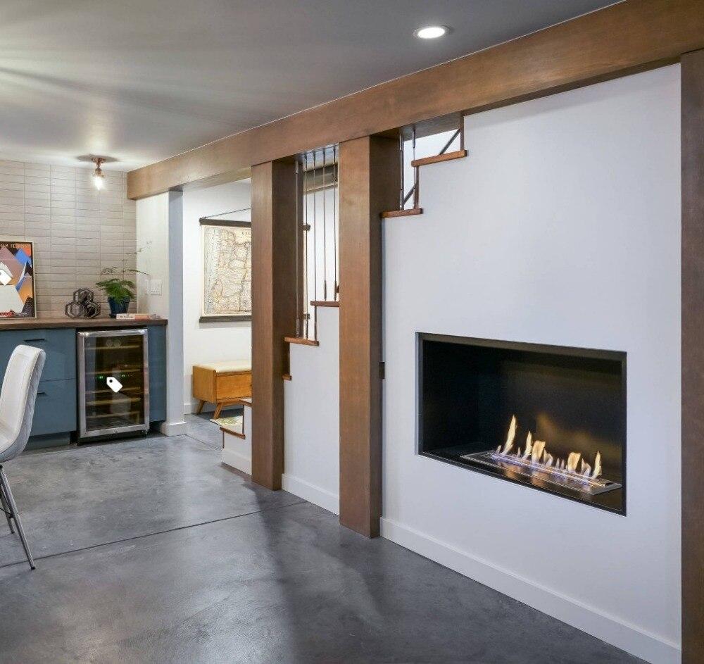Inno Living Fire  48 Inch Stainless Steel  Bio Ethanol Fireplace Burner Insert
