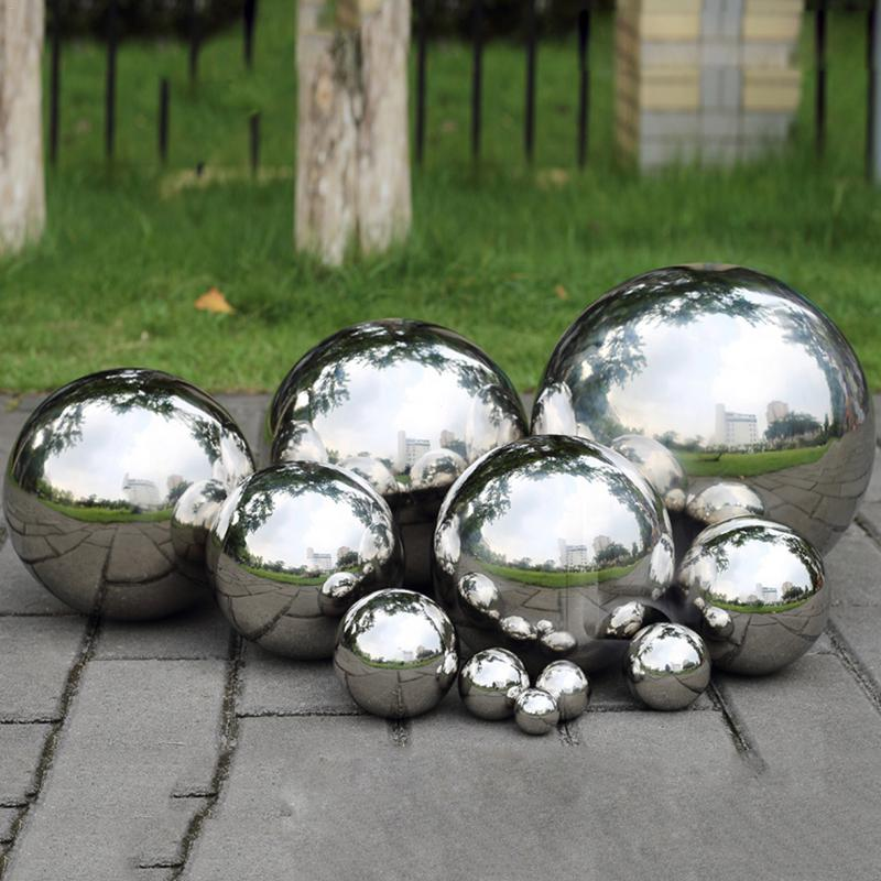 19mm~300mm High Gloss Glitter Stainless Steel Ball Sphere Mirror Hollow Ball Home Garden Decoration Supplies Ornament