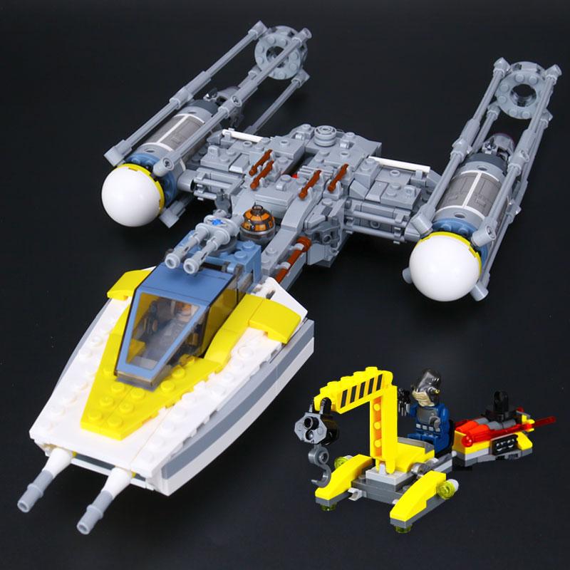 05065 691Pcs Star Genuine Wars The Y-wing Starfighter Set Model Building Blocks Bricks Toys Gift Compatible Legoe 75172