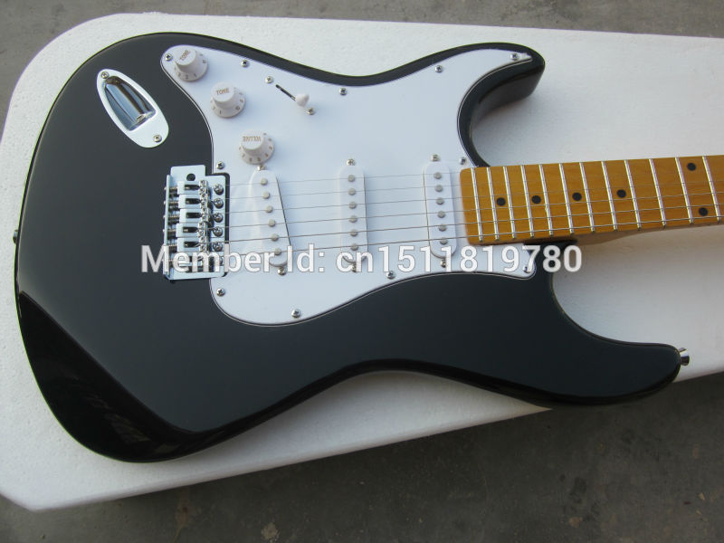 Electric guitar Free shipping Wholesale new fen st custom shop electric guitar/ black color left hand guitar/guitar in china vegas left hand natural color acoustic electric guitar free bag free shipping