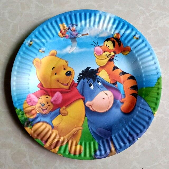 10pcs/lot Cartoon Winnie The Pooh Paper Plates Decoration Kids Favors Happy Birthday Party Baby & 10pcs/lot Cartoon Winnie The Pooh Paper Plates Decoration Kids ...