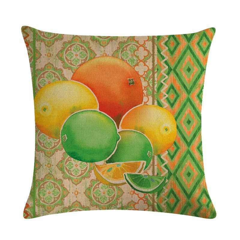 JAYQUERING Colorful Pineapple Watermelon Simple Pillow Case 45 * 45 Creative Cosy Fruit Banana Bedclothes Pillowcase Home D301
