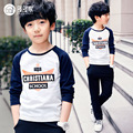 2016 new children's clothing boys long-sleeved T-shirt large children's spring coat Korean version bottoming shirt