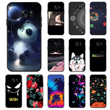 Ojeleye Fashion Black Silicon Case For Samsung Galaxy S7 Cases Anti-knock Phone Cover For Samsung Galaxy S7 Edge Covers samsung keyboard cover для samsung galaxy s7 edge black